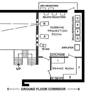 plan of dubbing projection room (14K)