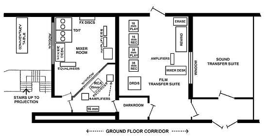 Plan of Dubbing and Transfer Suites (22K)