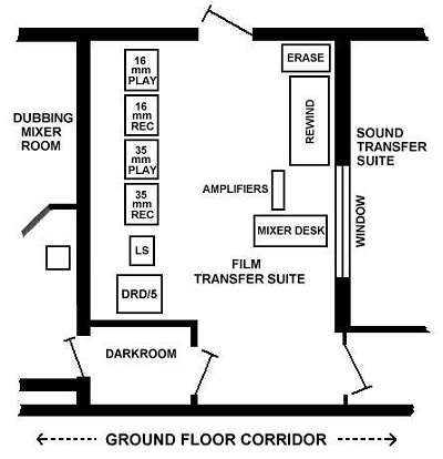 plan of film transfer suite (22K)